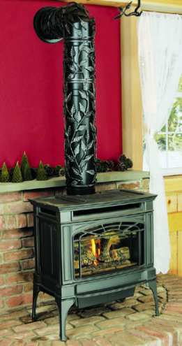 Fireplace Lowdown Pipe Sham Pretties Up Your Wood Stove Pipe