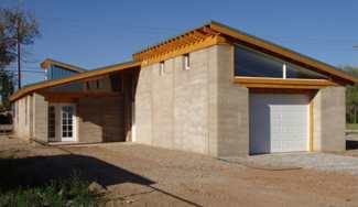 Rammed-earth-house