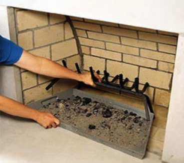 Fireplace Tray Makes Cleaning Out Ashes Easy