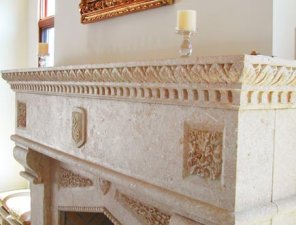 Customstonefireplacemantel