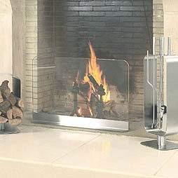 Contemporary Modern Glass Fireplace Screen Tools Accessories Modernfireplaceaccessories E In Design Ideas