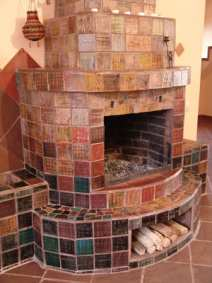 Colorfulceramictilefireplace