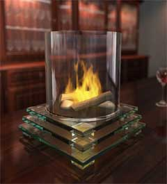 Tabletopglassfireplace