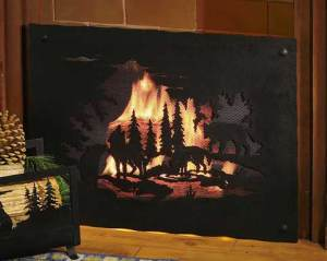 Timberwolffireplacescreen